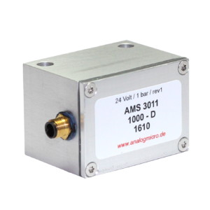 AMS 3012 - pressure transmitter with interference resistant 4-20 mA current output in metal housing by AMSYS