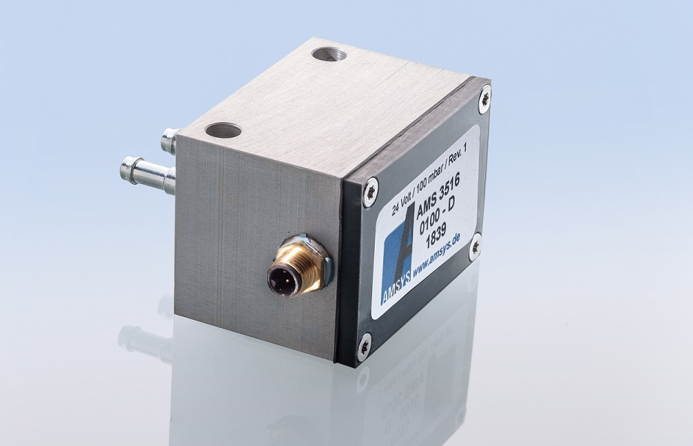 AMS 3516 – pressure transmitter with a 5-V output and wireless Bluetooth 4.2 signal AMSYS