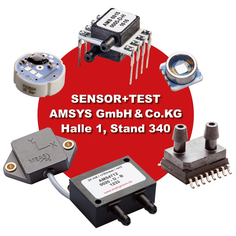 Sensor und Test in Nuernberg AMSYS an Stand 340 in Halle 1