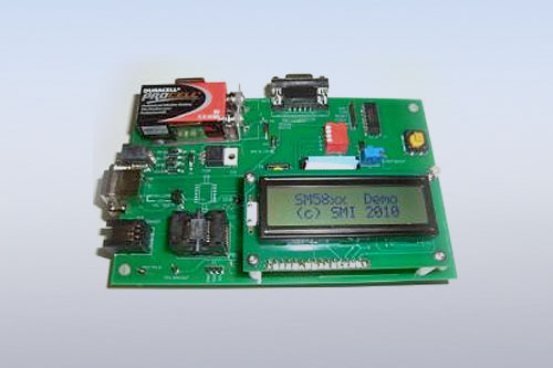demonstration board SM58XX by AMSYS